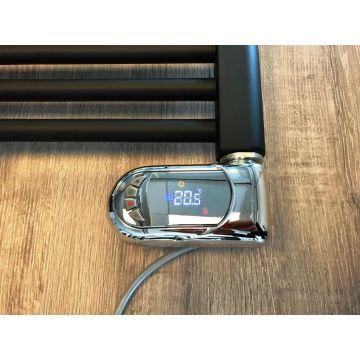 Instamat Klasse II luxe digitale badkamerthermostaat IP44, chroom