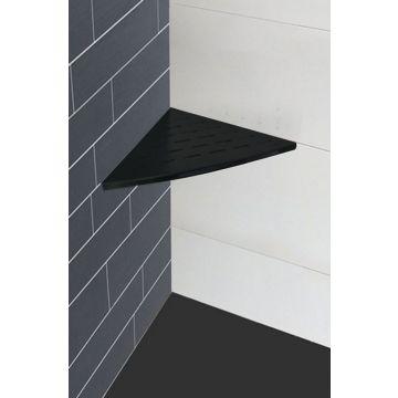 Wiesbaden InWall hoekplanchet 29 x 29 cm, mat-zwart