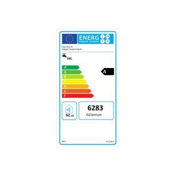 Intergas Superflow 45 gasgeiser met energie-efficiëntieklasse A 75,5 x 45 x 28 cm, wit