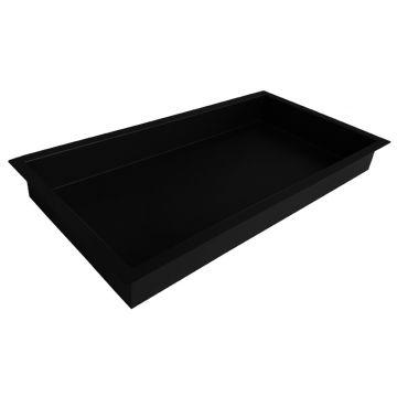 Wiesbaden inbouwnis 30 x 60 x 10 cm, mat zwart