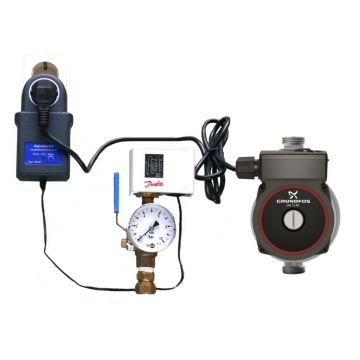 Grundfos UPA drukverhogingspomp 15-90N met Pressure Switch en onderdrukbeveiliging, flenslengte 160 mm, 230 V, 50 Hz
