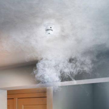 Klik-Aan-Klik-Uit ZSDR-850 draadloze rookdetector, wit