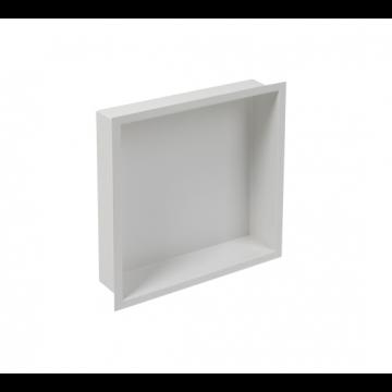 Plieger Inbox inbouwnis m. flens 30x30x7.5cm waterproof wit