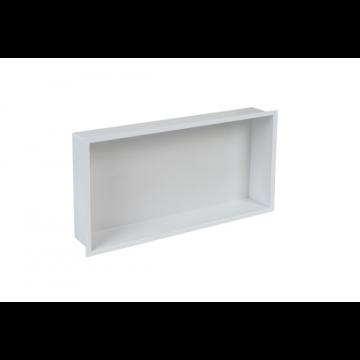 Plieger Inbox inbouwnis m. flens 60x30x7.5cm waterproof wit