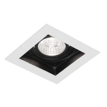 Sub 159 led inbouw spot 5w 90x90 mm vierkant met trafo wit, wit