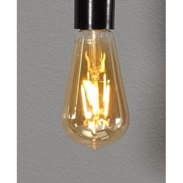 Sub 16 led lamp e27 1800k 380l peervormig amber, amber