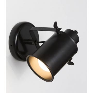 Sub 16 wandlamp cylinder e27 zonder lamp zwart, zwart