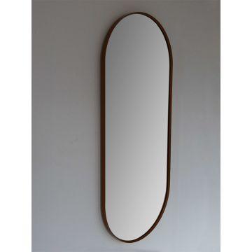 Sub 148 spiegel 90x38 cm ovaal met lijst, mat zwart