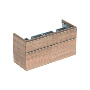 Geberit iCon wastafelonderkast 4 laden 119x62 cm voor dubbele wastafel, eiken naturel