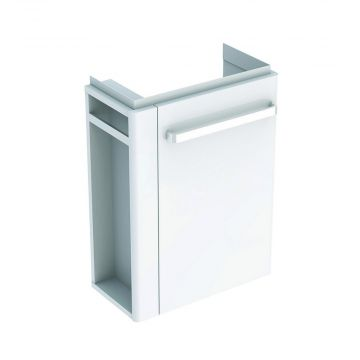 Geberit Renova compact fonteinonderkast 1 handdoekhouder deur, glans wit