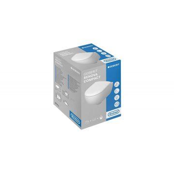 Geberit Renova Compact CombiPack Rimfree hangend toilet diepspoel met Topfix Softclose Quickrelease-zitting, wit