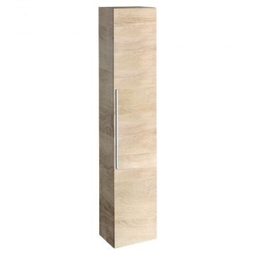 Geberit iCon hoge kast met 1 deur (links/rechts te monteren) 180 cm, eiken naturel