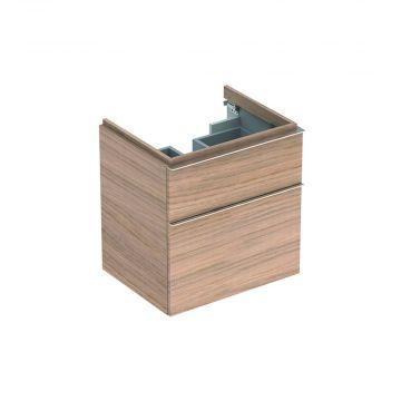 Geberit iCon wastafelonderkast 2 laden 59,5x62 cm, eiken naturel