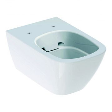 Geberit Smyle Square hangend toilet rimfree KeraTect, wit