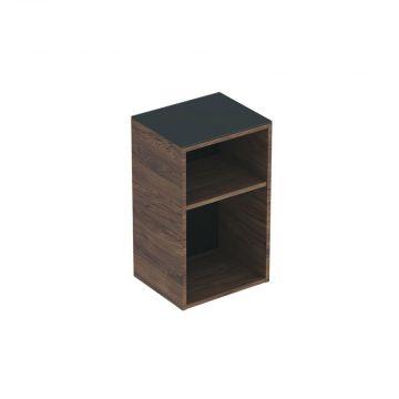 Geberit Smyle Square lage kast open 36 cm, noten hickory