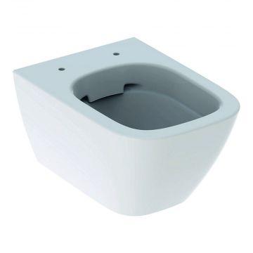 Geberit Smyle Square hangend toilet compact rimfree, wit