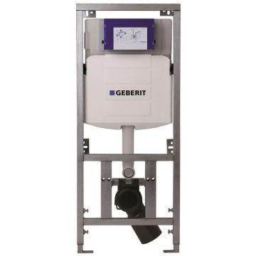 Geberit UP320 inbouwreservoir met Burda WC-element, geschikt voor frontbediening, zelfdragend draagvermogen 400 kg, inclusief DualFlush en isolatiemat