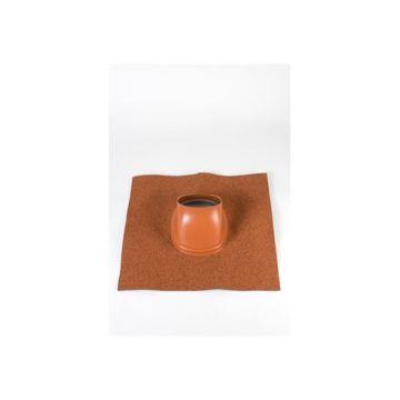 Ubbink Ubiflex dakdoorvoerpan universeel 131mm 25-45° 500x500mm terracotta