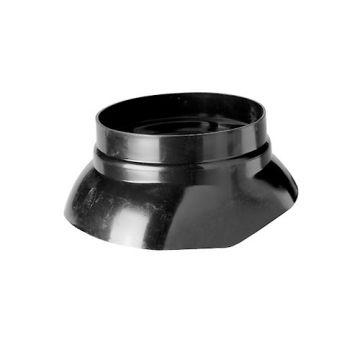 Ubbink glijschaal voor dakdoorvoer Ø110mm zwart