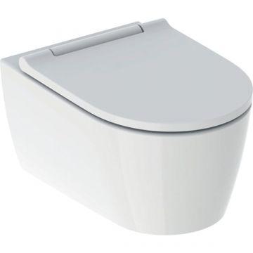 Geberit ONE wc pack hangend toilet met TurboFlush en toiletzitting, designpaneel wit, wit