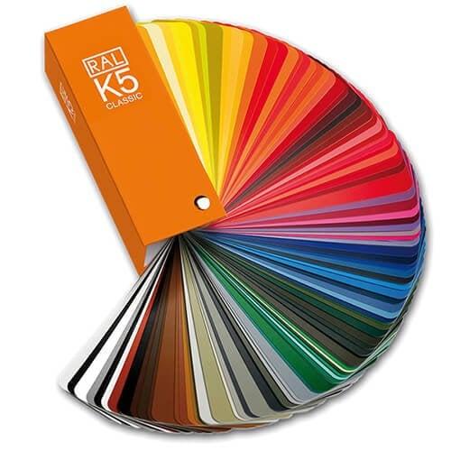 Uitleg van de RAL-kleuren