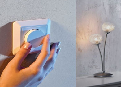 Lichtsterkte kun je bepalen met een dimmer